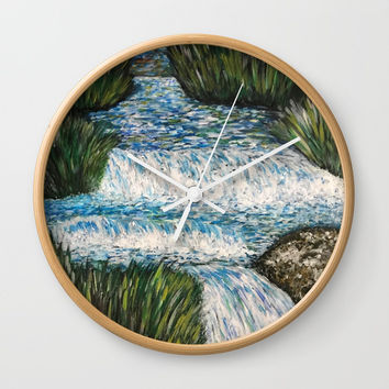 Water is Life Wall Clock by Artist CL