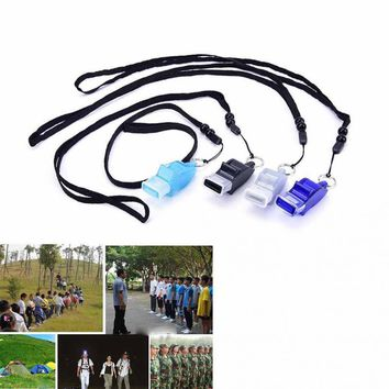 Outdoor Safety Supplies Dolphin Shape Whistles Football Soccer Sports Referee Judge Whistle Emergency Survival Whistling Kit