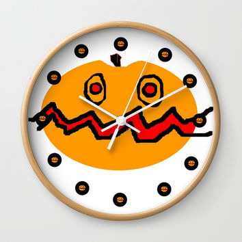 Citrouille 01 Wall Clock by Zia