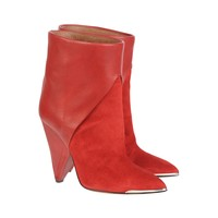 Daithy boots - Red leather boots - Red - Shoes - Women - IRO