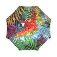 Umbrella with parrot red