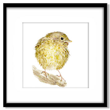 Bird Painting, Nursery Art Instant Download, Baby Bird, Robin Printable Poster, Kids Room Art,  Print Your Own Art and Cards