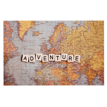 "Sylvia Cook ""Adventure Map"" World Decorative Door Mat"