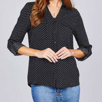 The Perfect Point Top - Black