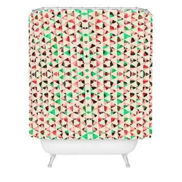 Caleb Troy Holiday Tone Shards Shower Curtain