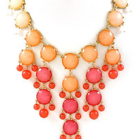 Ombre Bubble Statement Necklace - Fuchsia | .H.C.B.