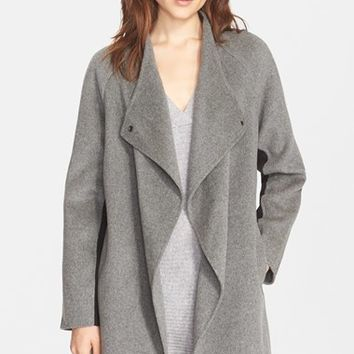 Women's Vince Two-Tone Sweater Back Coat,