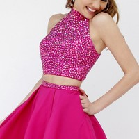 Short Two Piece Homecoming Dress by Sherri Hill