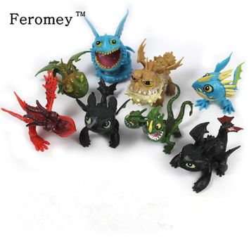 7pcs/8pcs a set How to Train Your Dragon 2 Action Figure Toys Night Fury Toothless Gronckle Deadly Nadder Dragon Toys for Boys