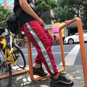 KUYOU N378 nike Japanese Special failed 3M pants Red