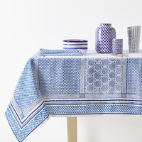 PATCHWORK-EFFECT PRINT LINEN TABLECLOTH - TABLECLOTHS AND NAPKINS - KITCHEN & DINING | Zara Home United States of America