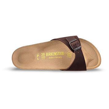 Birkenstock Madrid Oiled Leather Habana 0440881/0440883 Sandals - Ready Stock