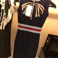 GUCCI Embroidery Bow Dress