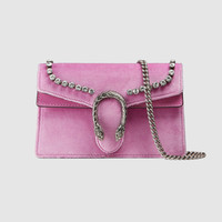 Gucci Dionysus suede super mini bag with crystals