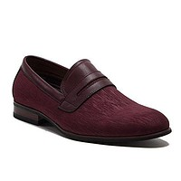 Ferro Aldo Men's 19538 Velveteen Evening Penny Loafers Slip On Shoes