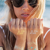 Delta Gamma Accents Tattoo Set (4-Pack)