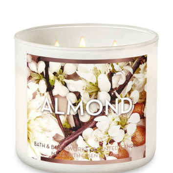 ALMOND3-Wick Candle