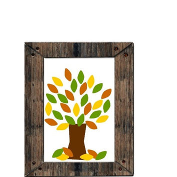 Autumn Tree of Life Printable - Home Fall Decoration - Instant Download