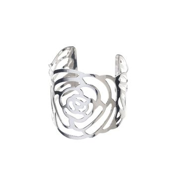 Metal Napkin Rings - Flower (Silver)