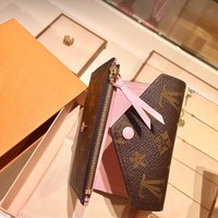 ready stock women's genuine leather clutch wallet long card holder purse
