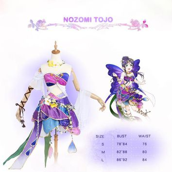 Nozomi Tojo Toujou Cosplay Love Live! School Idol Project Lovelive Flower Fairies Idolized Costume
