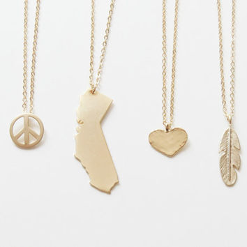 Cali Charm Necklace | Peace Charm Necklace | Love Charm Necklace | Cali Love Peace Charm Necklace