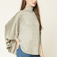 Marled Knit Turtleneck Top