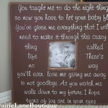 Personalized, Picture Frame, 20x20, Wedding Frame, New Baby, Baptism, Godparents, Nursery Decor,Custom Made,Baby, Children, PrairieBoutique