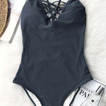 Cupshe Aesthetics Feeling Cross One-piece Swimsuit