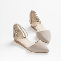 Seychelles Taupe Plateau Ankle Strap Flat