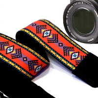 Native American Camera Strap Inspired. Tribal Camera Strap, Ethnic Camera Strap. Southwestern. Accessories Women