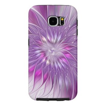 Pink Flower Passion Abstract Fractal Art Samsung Galaxy S6 Case