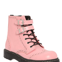 Anarchic By T.U.K. Pink Brogue Boot | Hot Topic