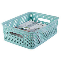 See Jane Work Decorative Storage Medium Woven Bin 14 H x 10 35 W x 4 45 D Blue by Office Depot