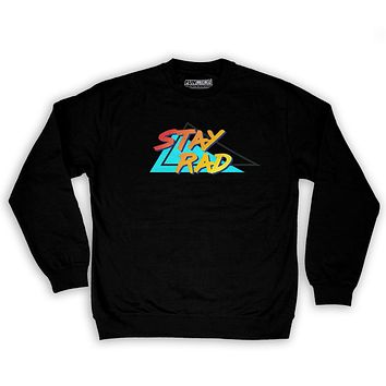 Function - Stay Rad 80's Men's Fashion Crew Neck Sweatshirt