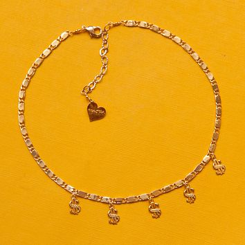 Throwing Dollaz Charm Necklace
