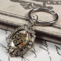 Victorian Steampunk Gear Mini Keychain