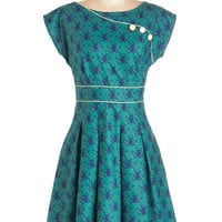 ModCloth Woodland Creature Mid-length Sleeveless A-line Topiary Tour Dress in Deer