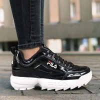 FILA Running Sport Casual Shoes Sneakers Black