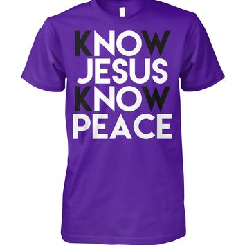 Mens Know Jesus Know Peace No Jesus Shirt for Men, Father's Day Gift For Dad, Men's Tops