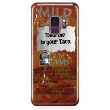 Taco Bell, Take Me To Your Taco Samsung Galaxy S9 Plus Case | Casescraft