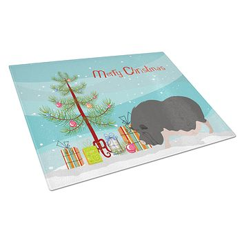 Vietnamese Pot-Bellied Pig Christmas Glass Cutting Board Large BB9308LCB