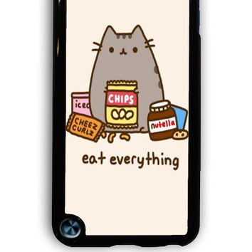 IPod 5 Case - Hard (PC) Cover with Pusheen The Cat Perfect Plastic Case Design