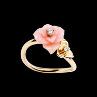 Rose gold Opal Diamond Ring G34UR600 - Piaget Luxury Jewelry Online