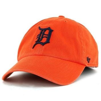 ESBON MLB Detroit Tigers Orange Clean Up Adjustable Hat