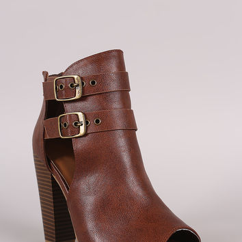 Buckled Chunky Heeled Ankle Boots | UrbanOG