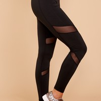Practice Makes Perfect Black Leggings