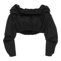 Third Degree Off The Shoulder Cropped Shirt | Moda Operandi