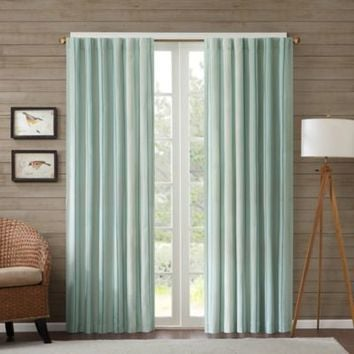 Edgewood Stripe Window Curtain Panel
