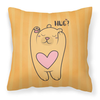 Nursery Hug Bear Fabric Decorative Pillow BB7470PW1818